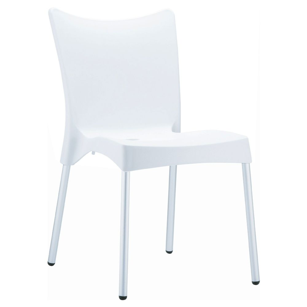 Juliette Resin Dining Chair White ISP045-WHI