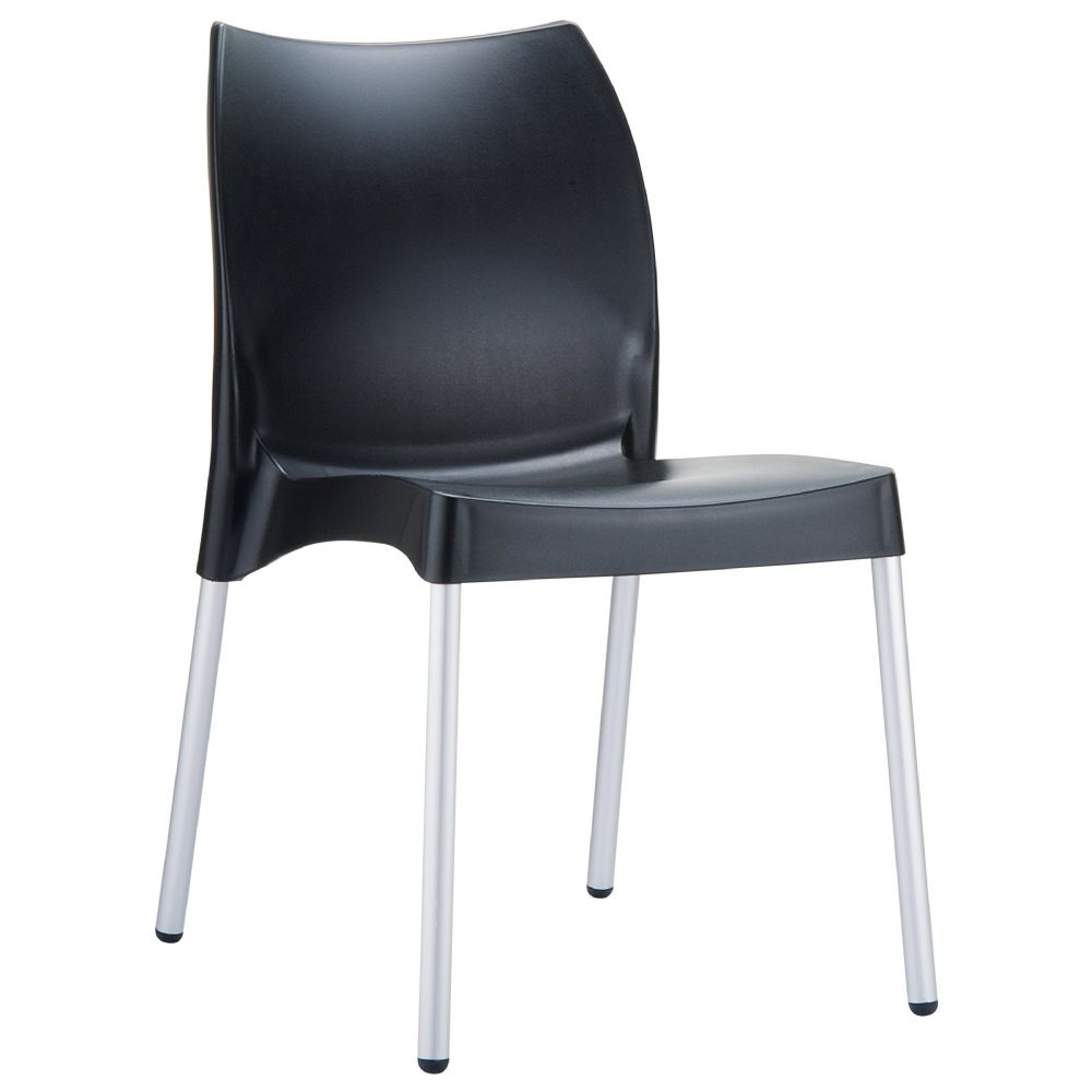 Vita Resin Outdoor Dining Chair Black ISP049-BLA
