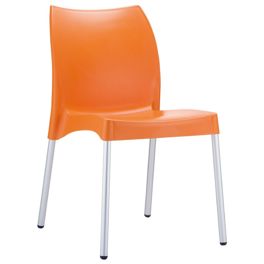 Vita Resin Outdoor Dining Chair Orange ISP049-ORA