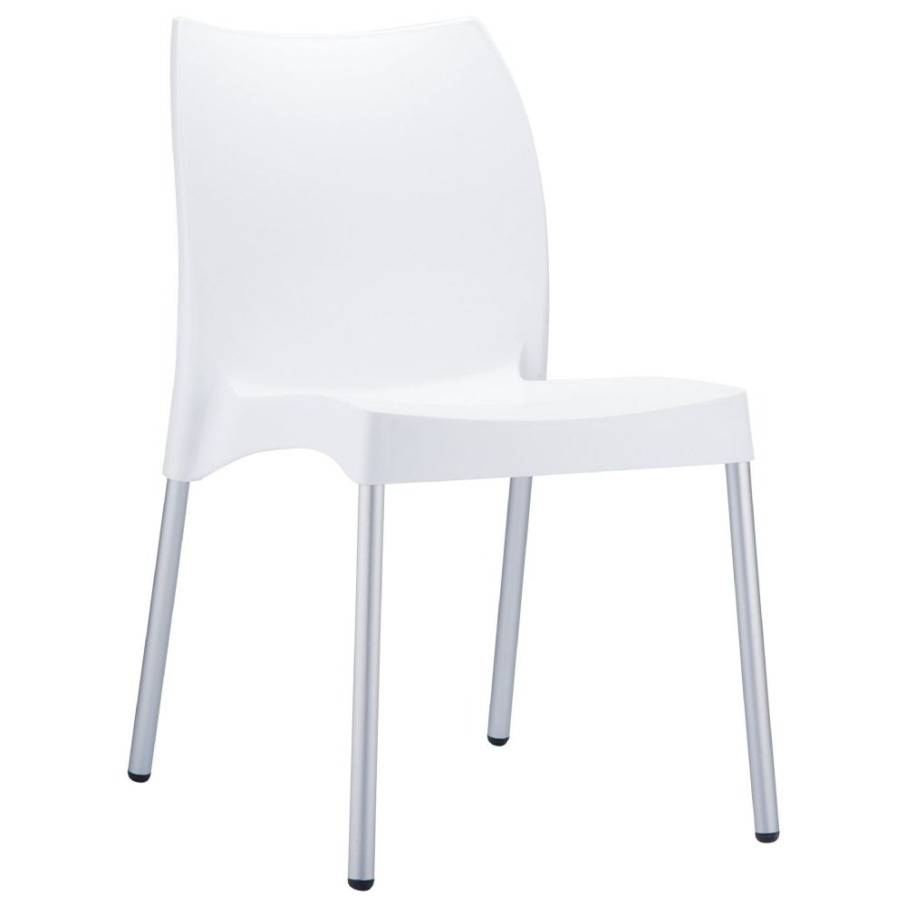 Vita Resin Outdoor Dining Chair White ISP049-WHI