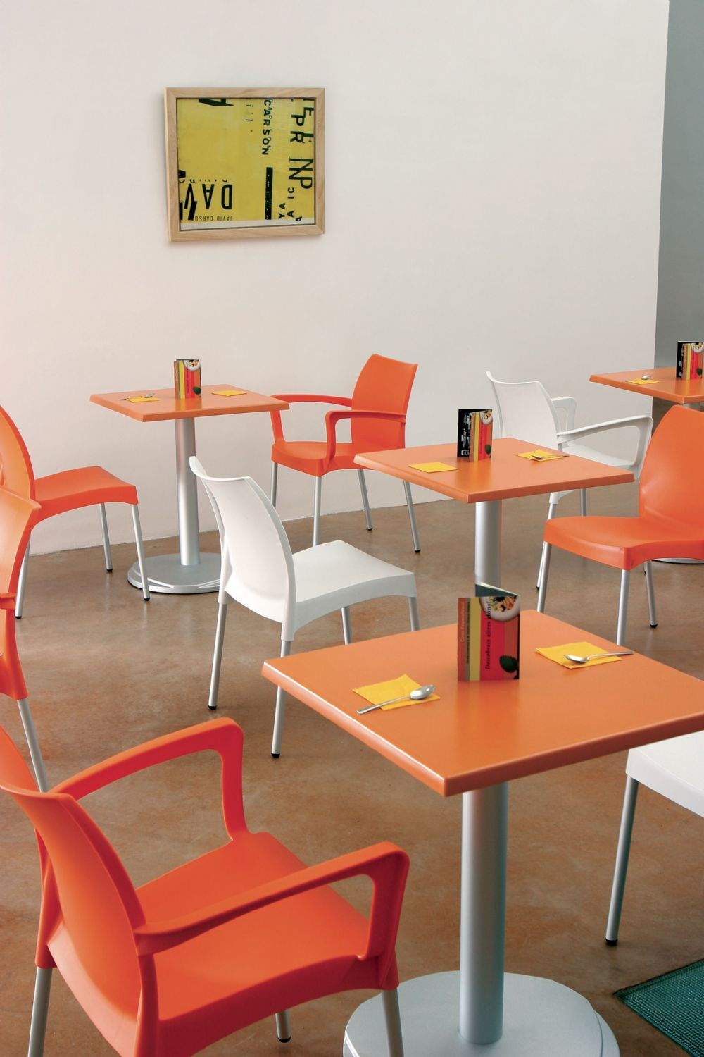 Vita Resin Outdoor Dining Chair Orange ISP049-ORA - 3