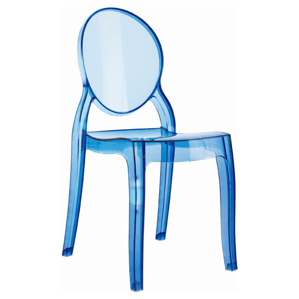 Baby Elizabeth Kids Chair Transparent Blue ISP051-TBLU
