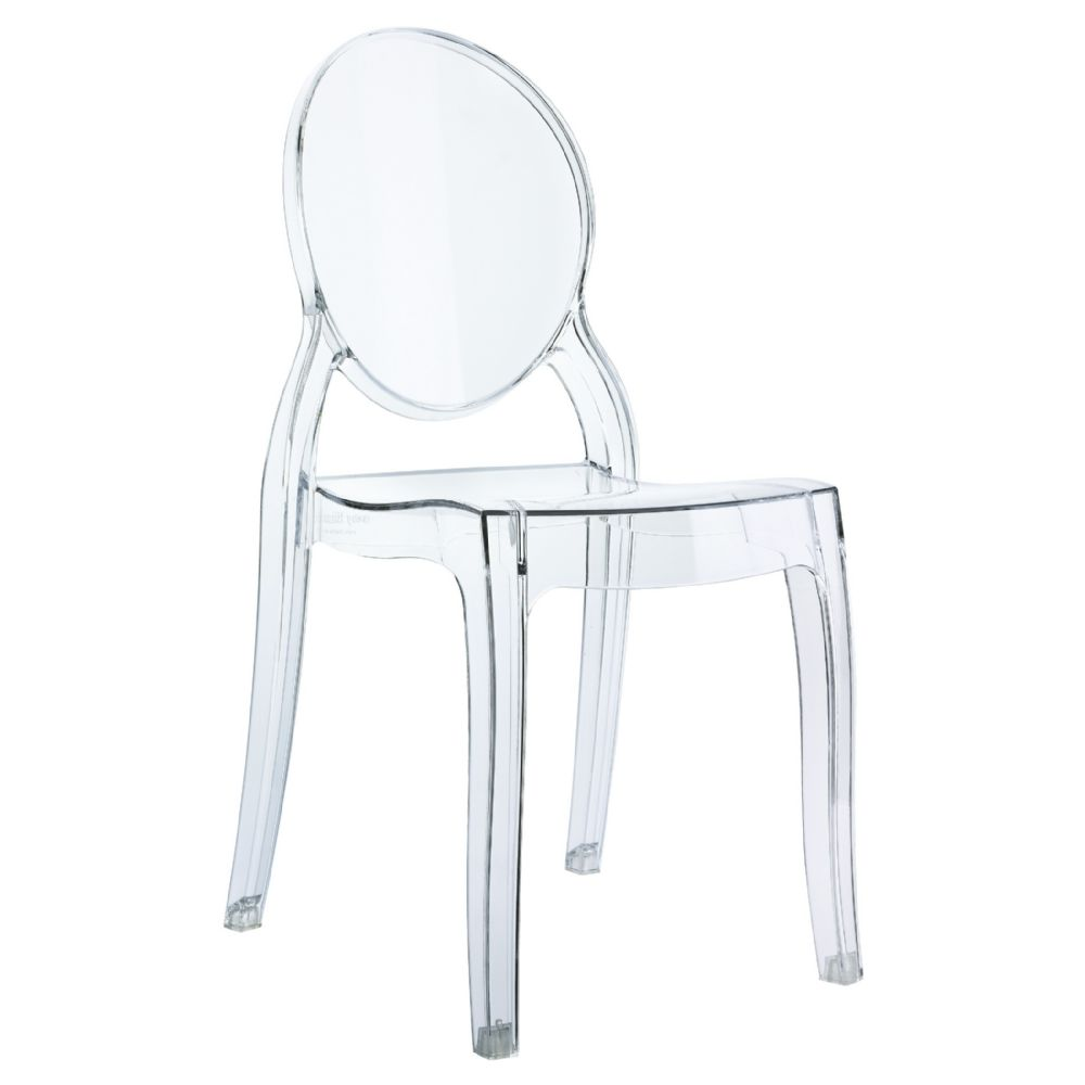 Baby Elizabeth Kids Chair Transparent Clear ISP051-TCL