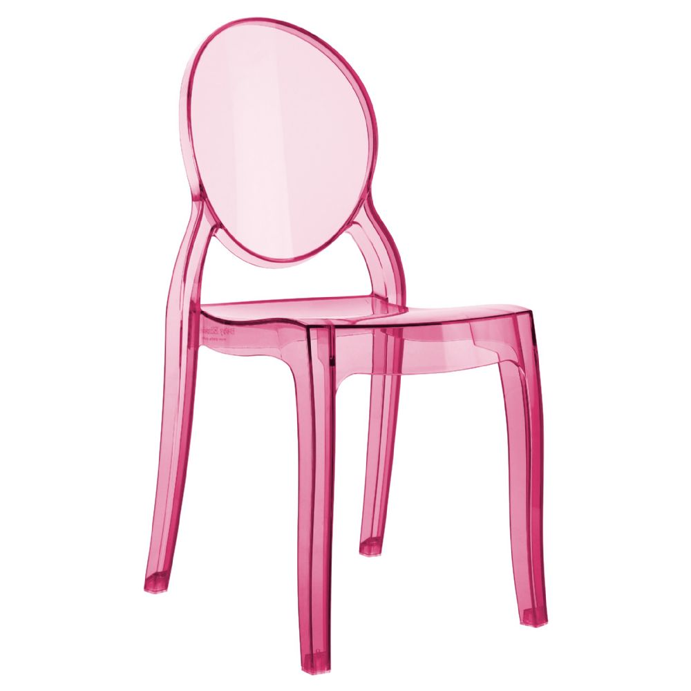 Baby Elizabeth Kids Chair Transparent Pink ISP051-TPNK