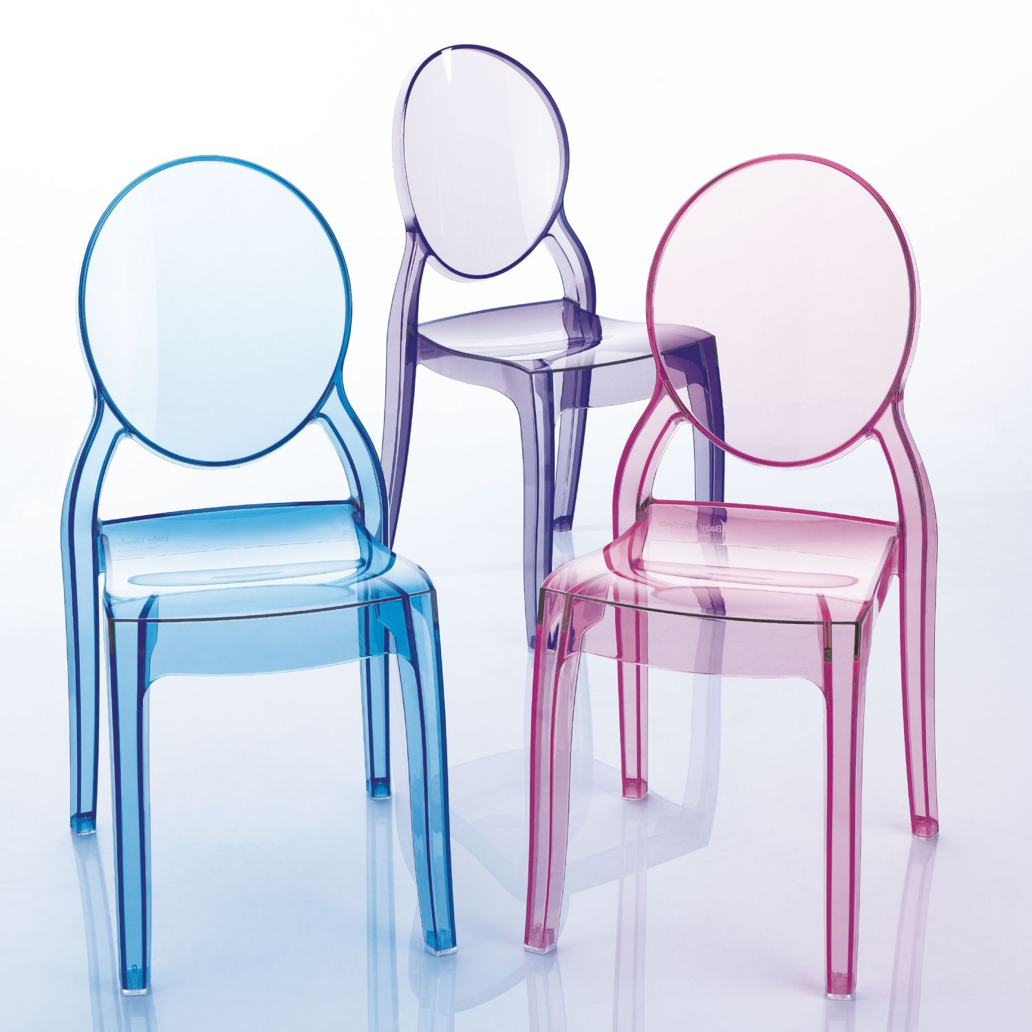 Baby Elizabeth Kids Chair Transparent Blue ISP051-TBLU - 3
