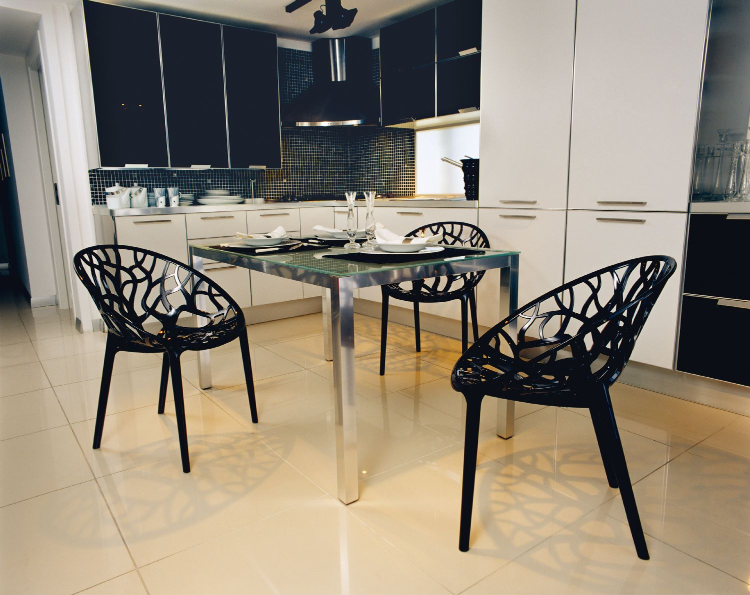 Crystal Polycarbonate Modern Dining Chair Transparent ISP052-TCL - 8