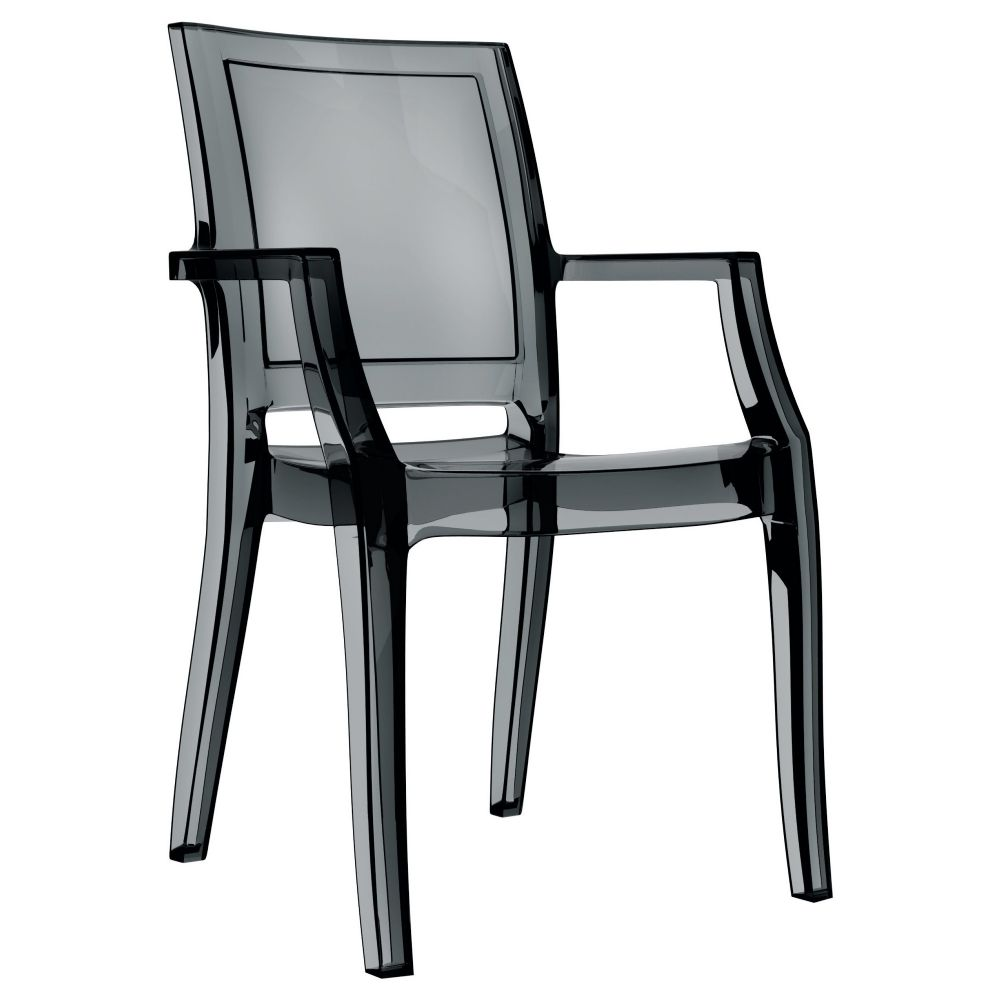 Arthur Polycarbonate Arm Chair Black ISP053-TBLA