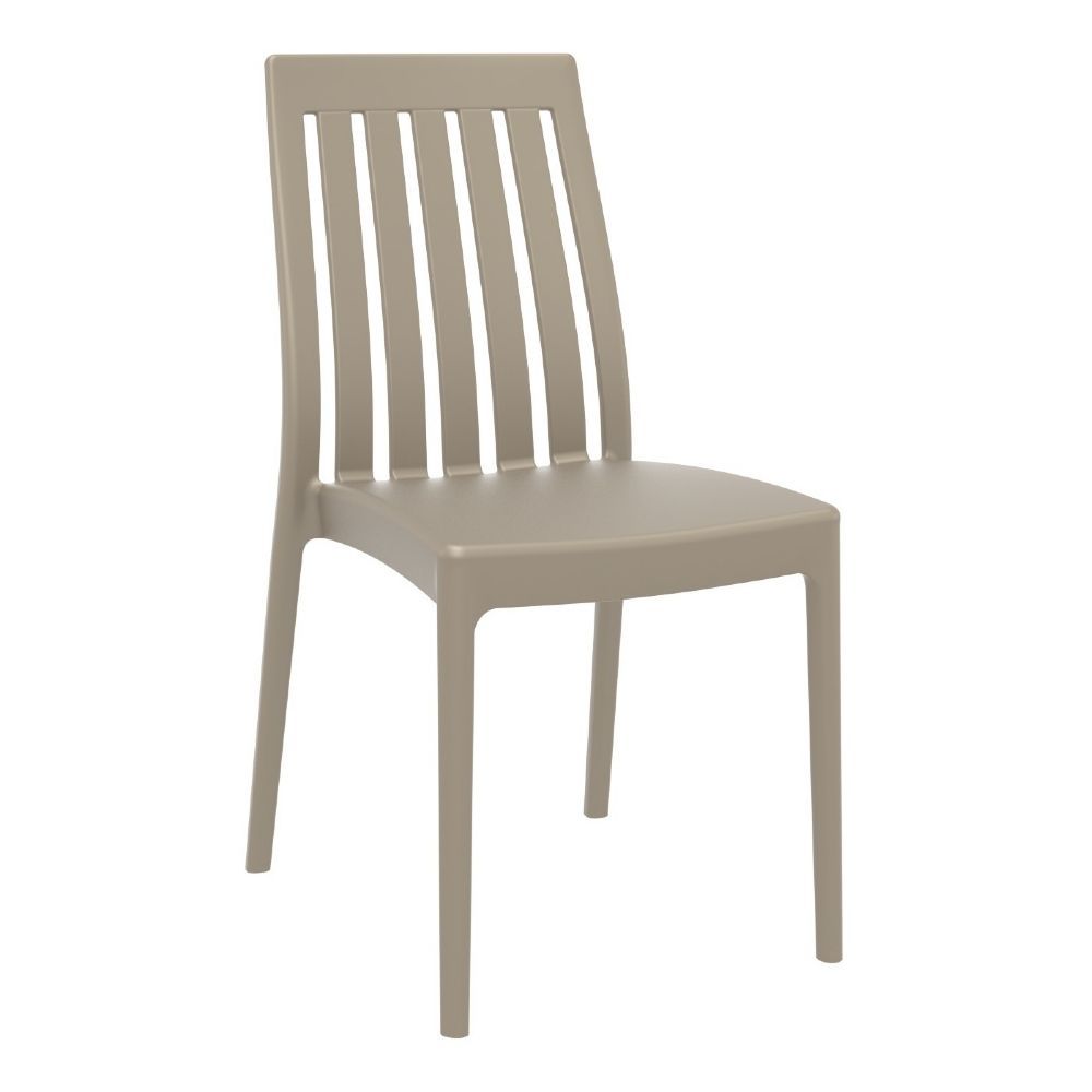 Soho High-Back Dining Chair Taupe ISP054-DVR