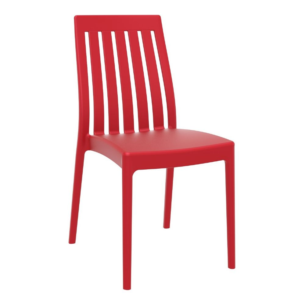 Soho High-Back Dining Chair Red ISP054-RED
