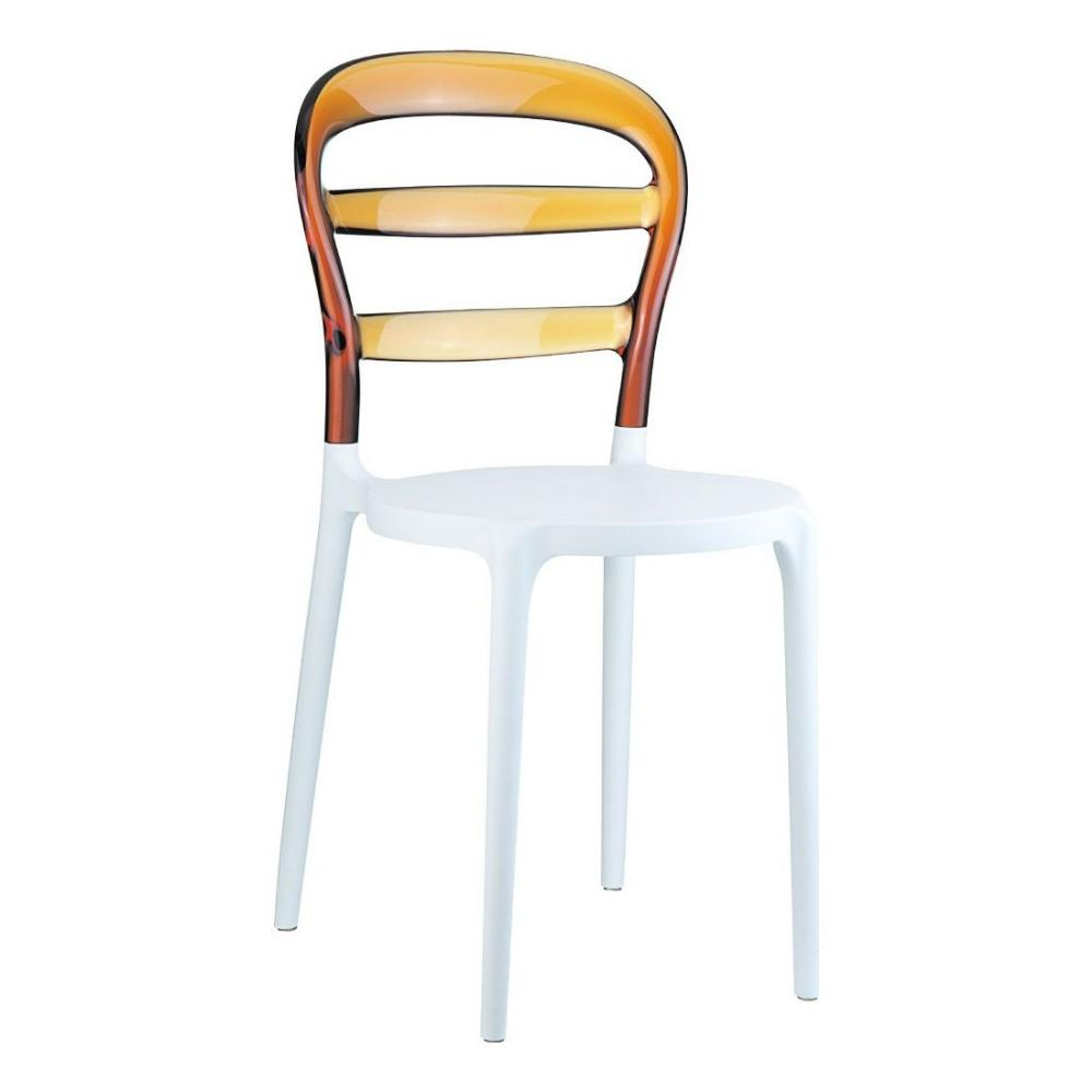 Miss Bibi Dining Chair White Amber ISP055-WHI-TAMB