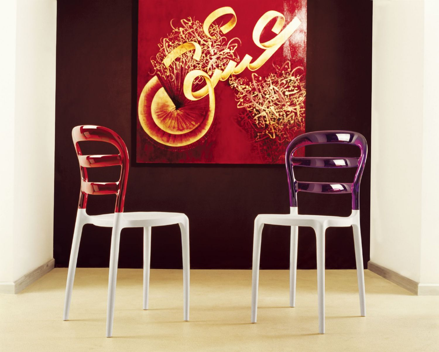 Miss Bibi Dining Chair White Red ISP055-WHI-TRED - 11