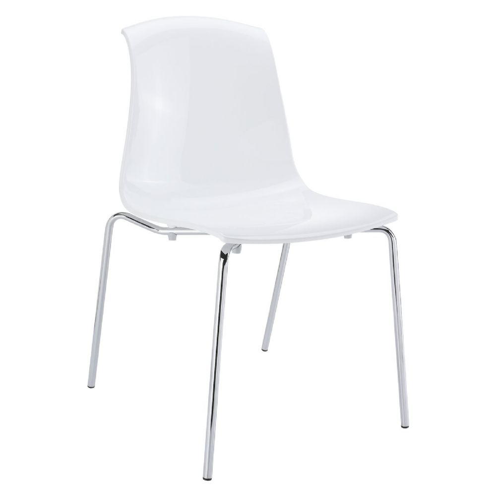Allegra Indoor Dining Chair Glossy White ISP057-GWHI