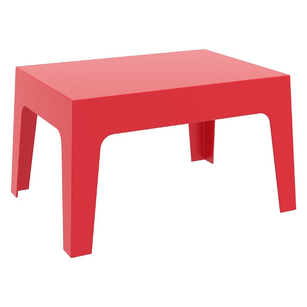 Box Resin Outdoor Coffee Table Red ISP064-RED