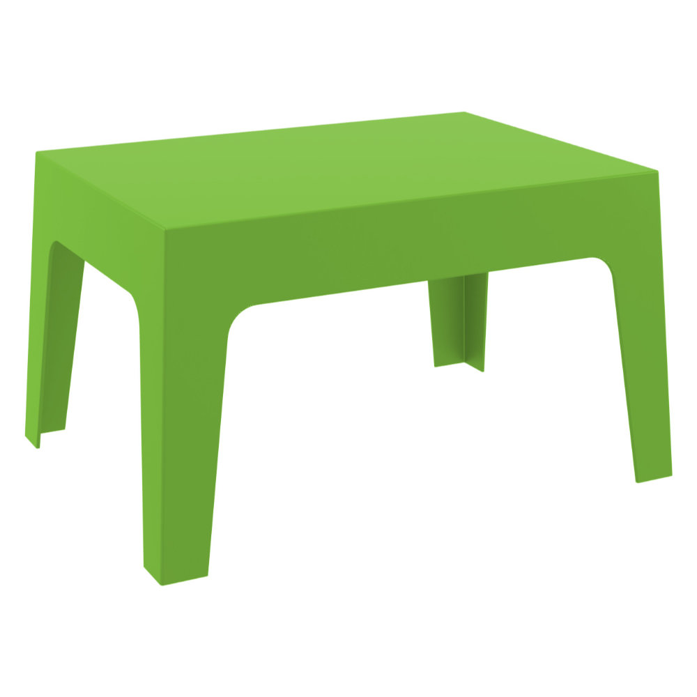 Box Resin Outdoor Coffee Table Tropical Green ISP064-TRG