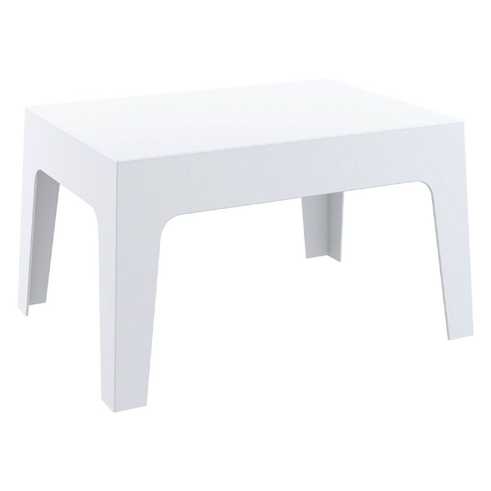 Compamia  Box Resin Outdoor Coffee Table White ISP064WHI -> White Sand Outdoor Resin Table