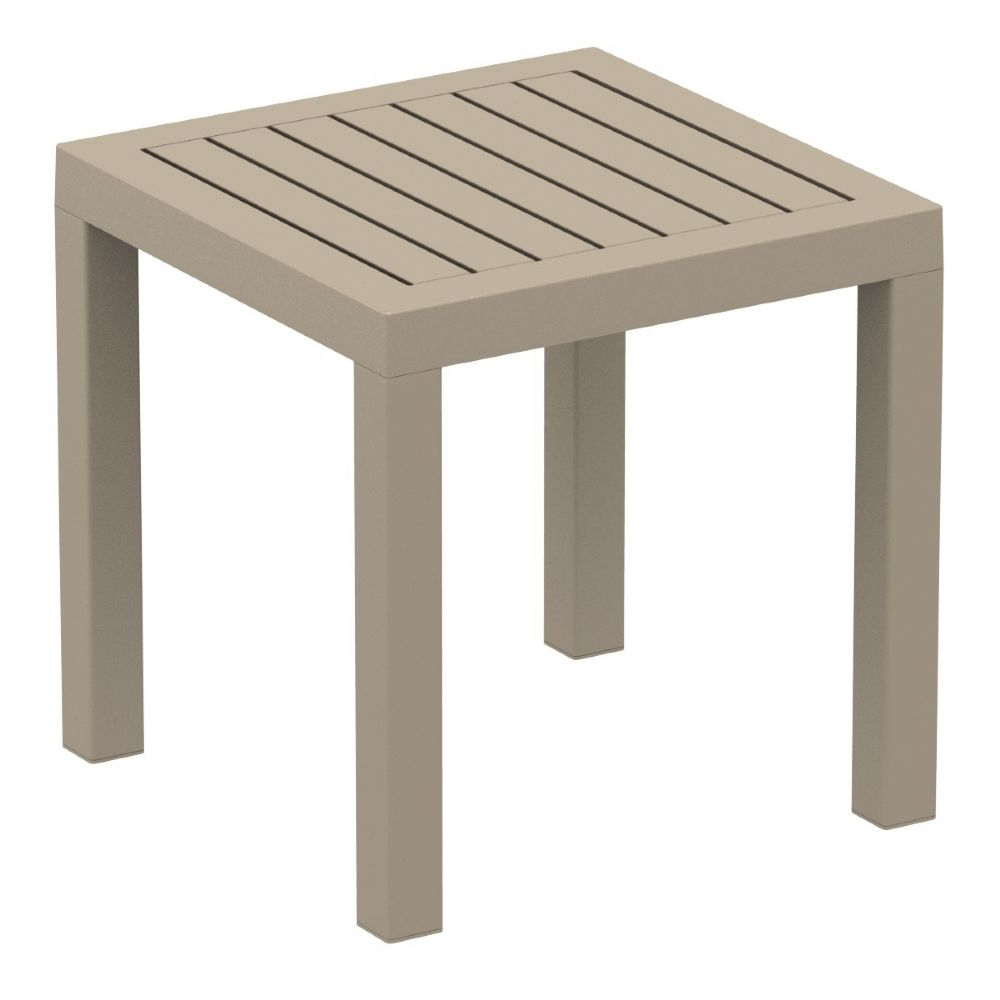 Ocean Square Side Table Taupe ISP066-DVR
