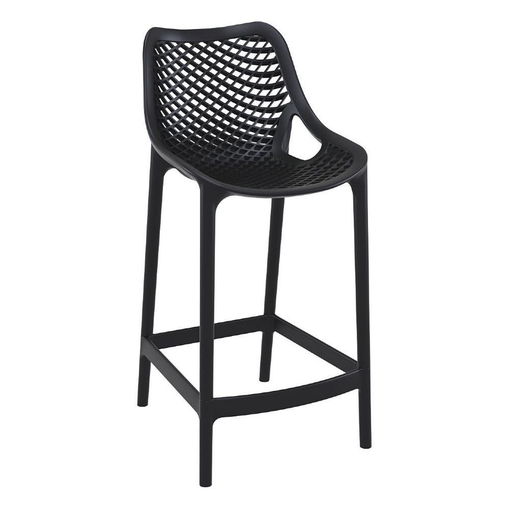 Air Resin Outdoor Counter Chair Black ISP067-BLA