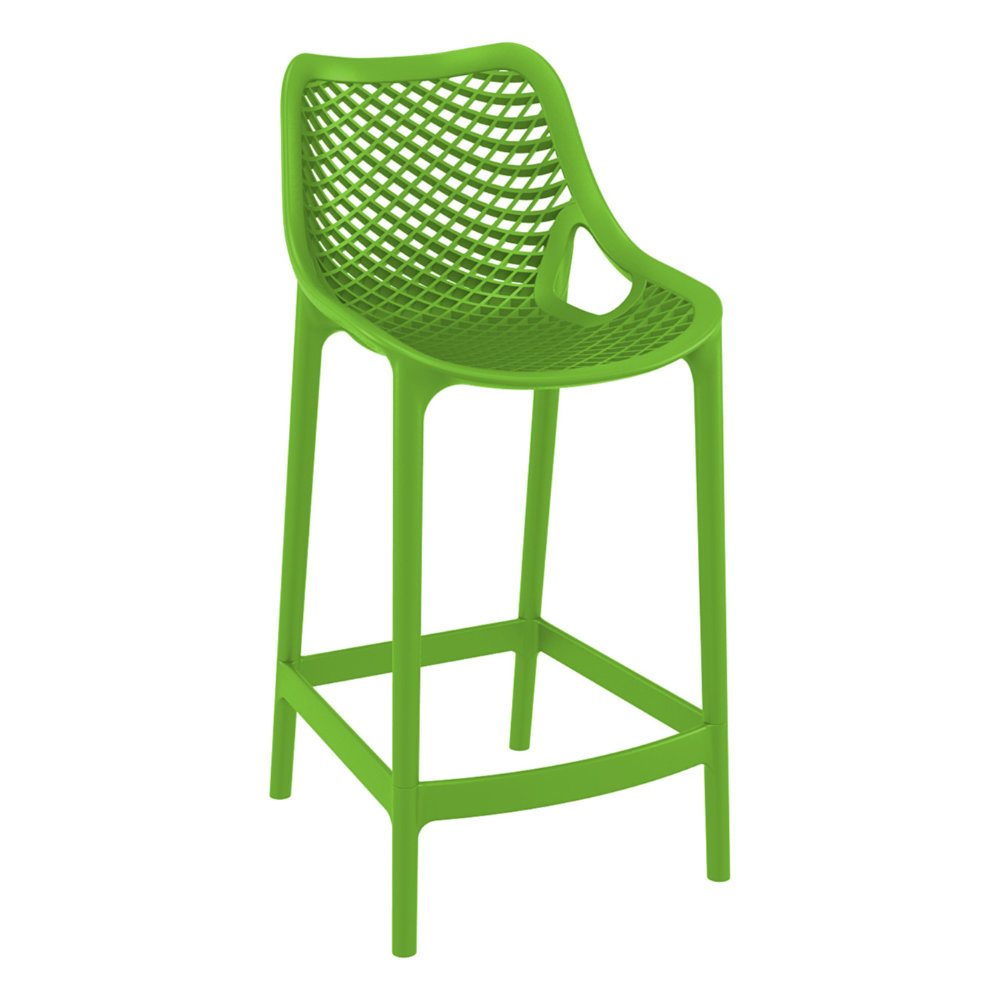 Air Resin Outdoor Counter Chair Tropical Green ISP067-TRG