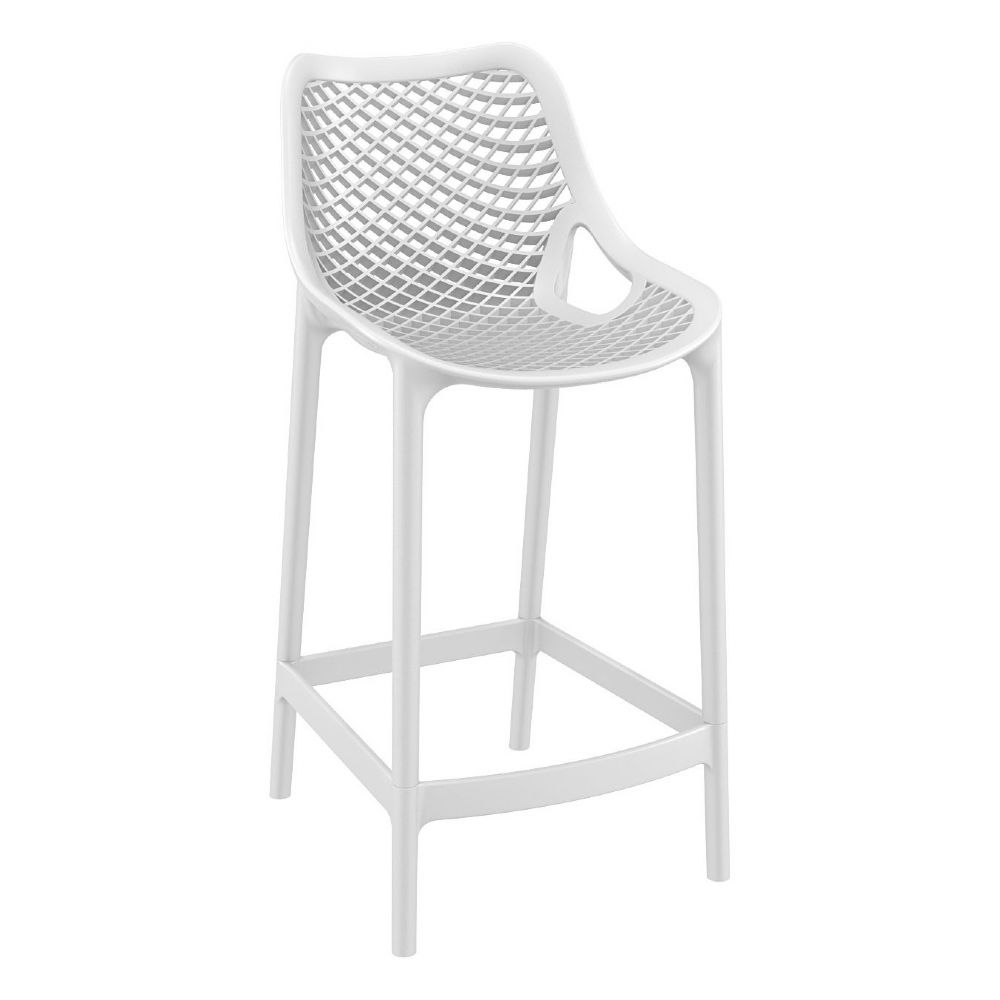 Air Resin Outdoor Counter Chair White ISP067-WHI