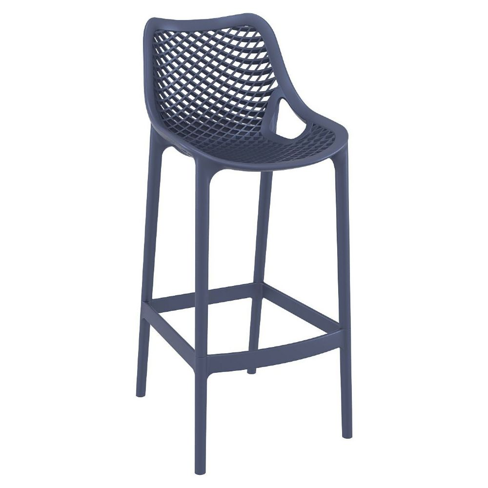 Air Resin Outdoor Bar Chair Dark Gray ISP068-DGR