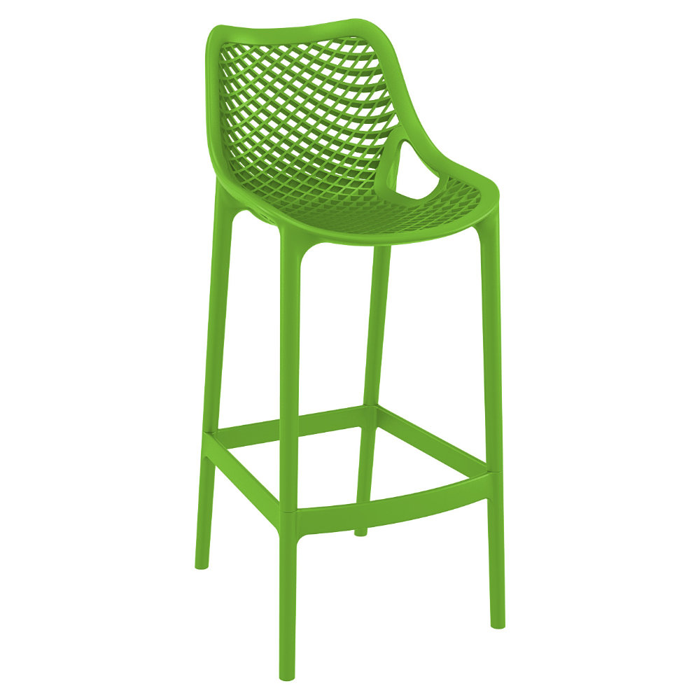 Air Resin Outdoor Bar Chair Tropical Green ISP068-TRG