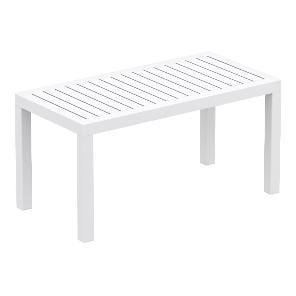 Ocean Rectangle Coffee Table White ISP069-WHI