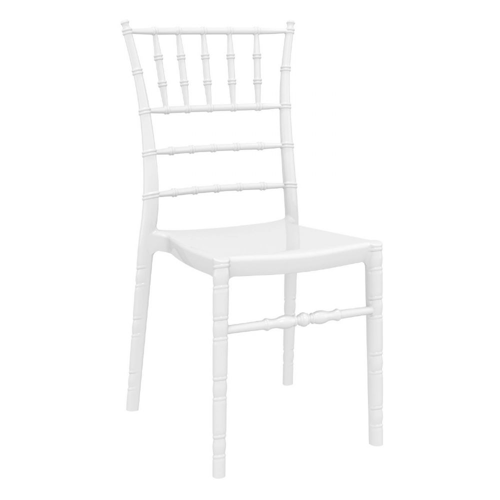 Chiavari Polycarbonate Dining Chair Glossy White ISP071-GWHI