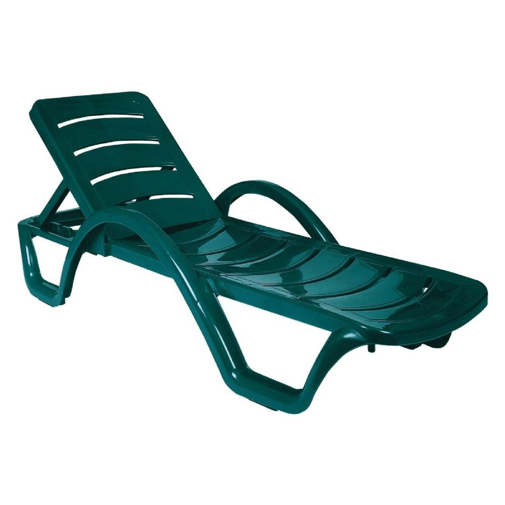 Havana Sunrise Pool Chaise Lounge with Arms Green ISP078-GRE