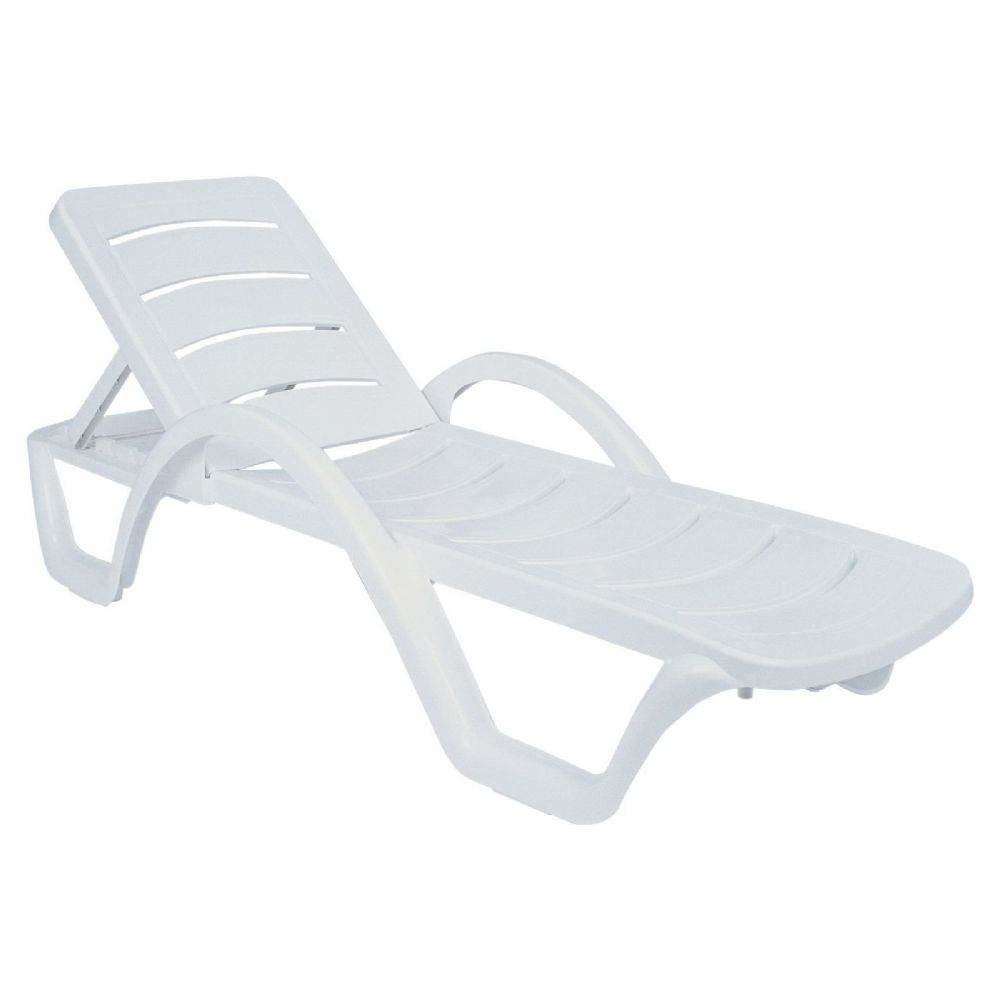 Havana Sunrise Pool Chaise Lounge with Arms ISP078-WHI