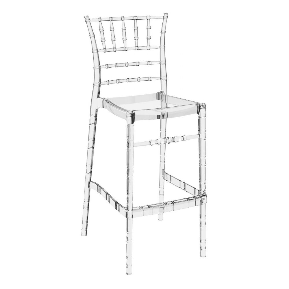 Chiavari Polycarbonate Barstool Transparent Clear ISP083-TCL