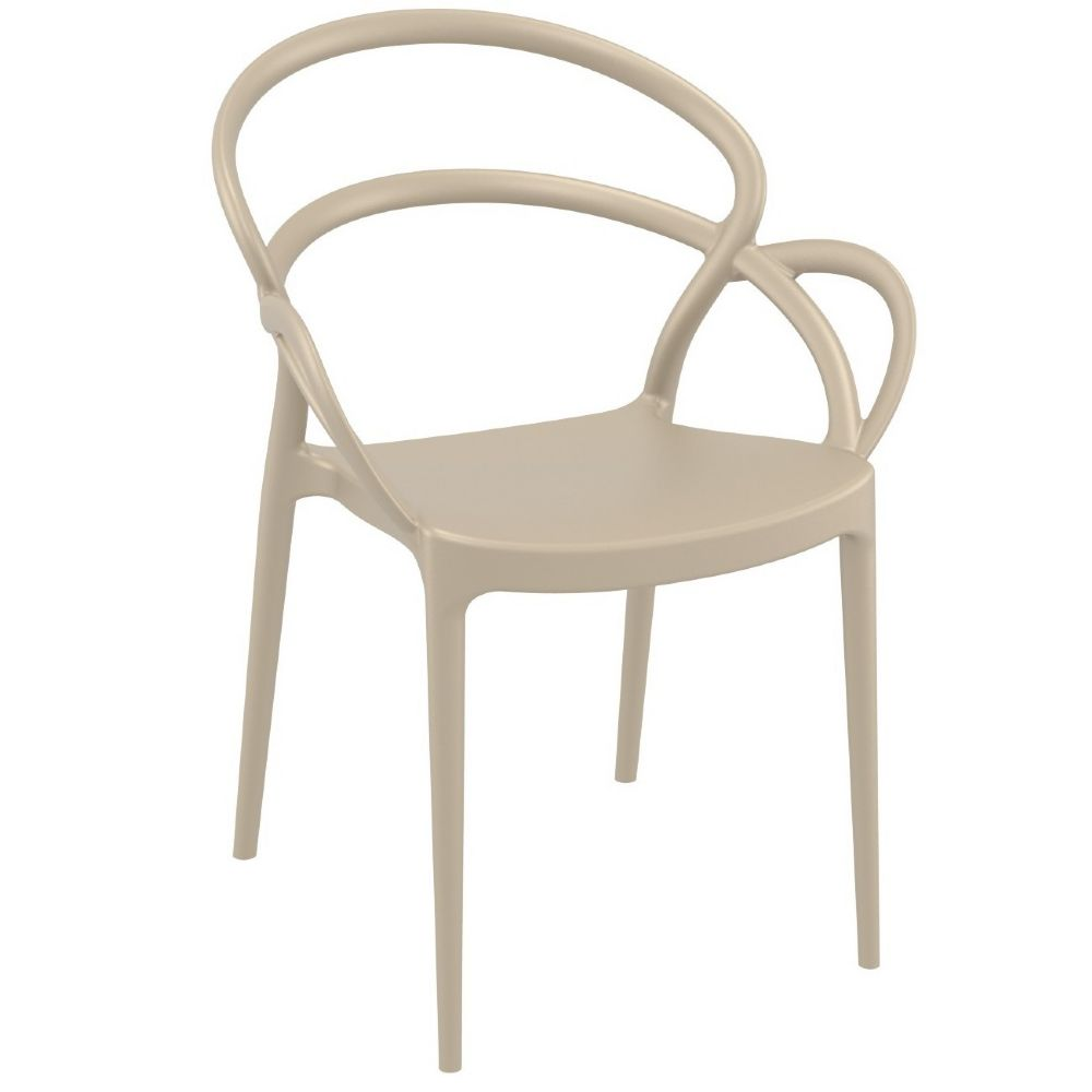 Mila Dining Arm Chair Taupe ISP085-DVR