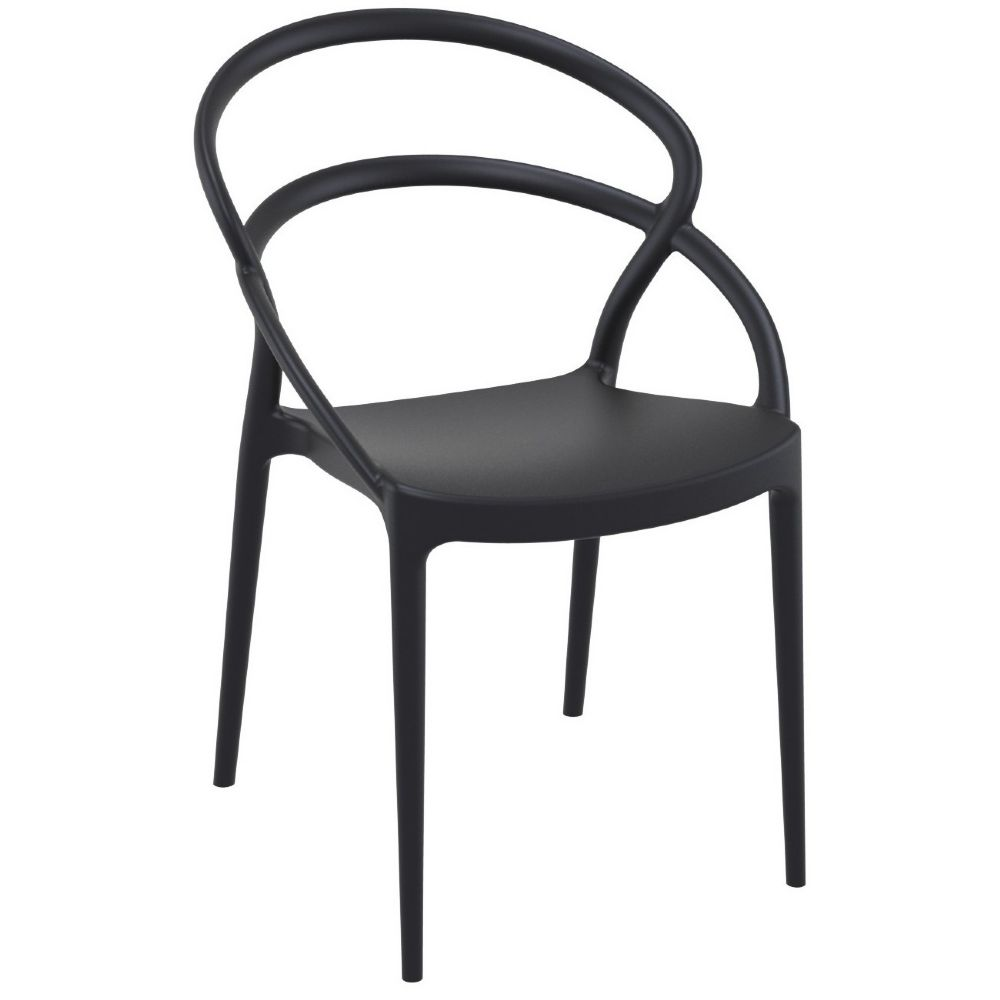 Pia Dining Chair Black ISP086-BLA