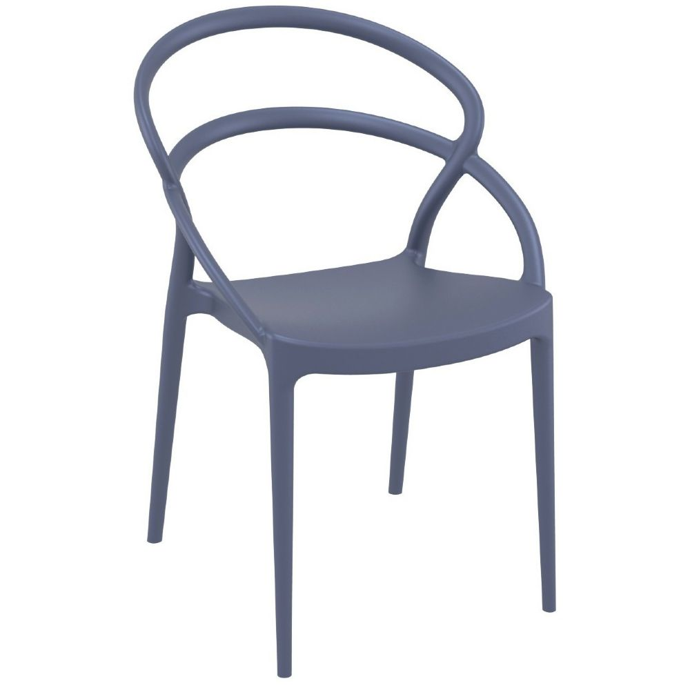 Pia Dining Chair Dark Gray ISP086-DGR