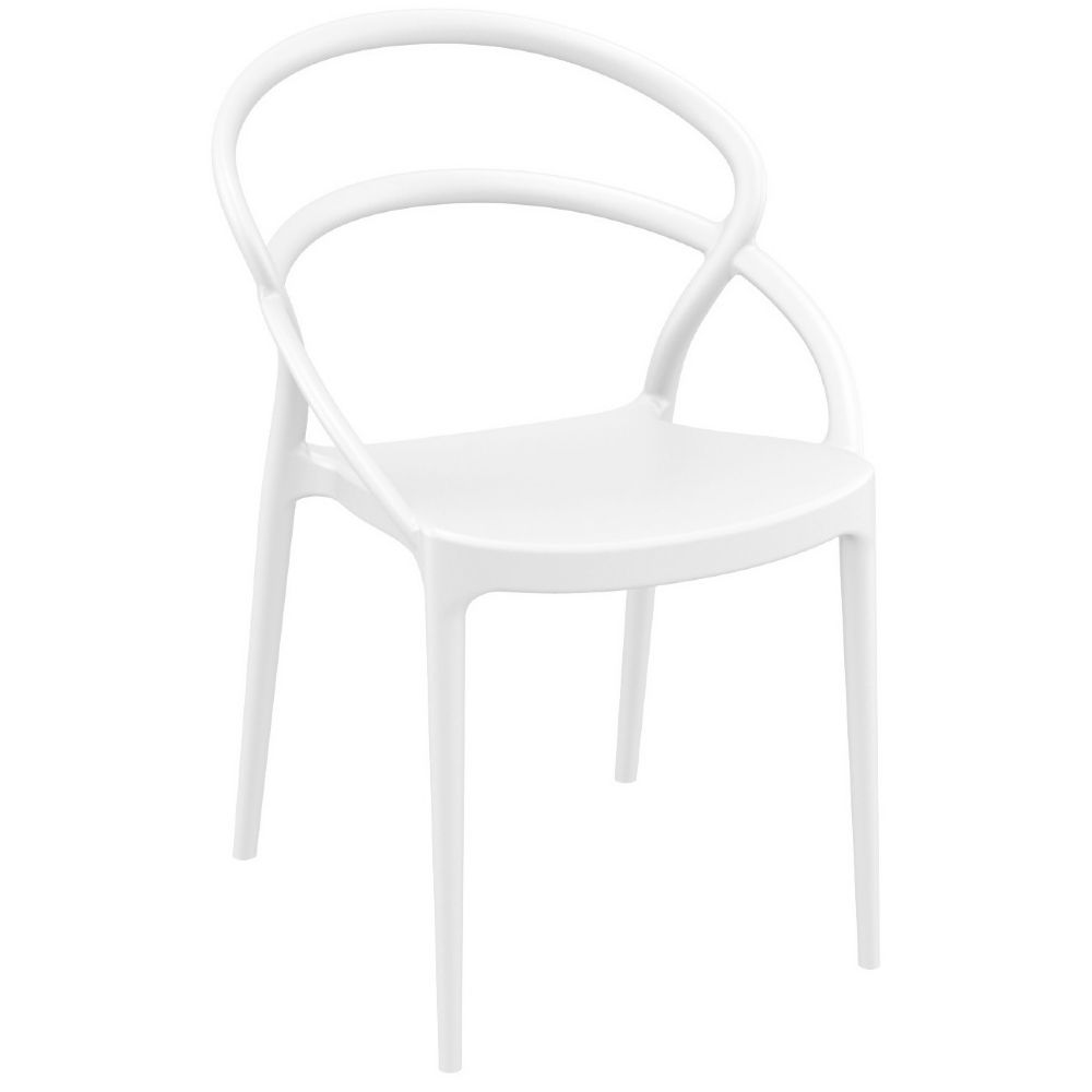 Pia Dining Chair White ISP086-WHI