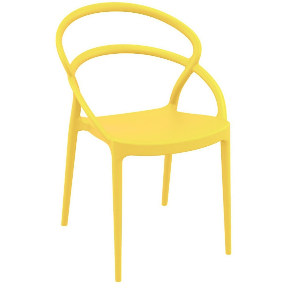 Pia Dining Chair Yellow ISP086-YEL