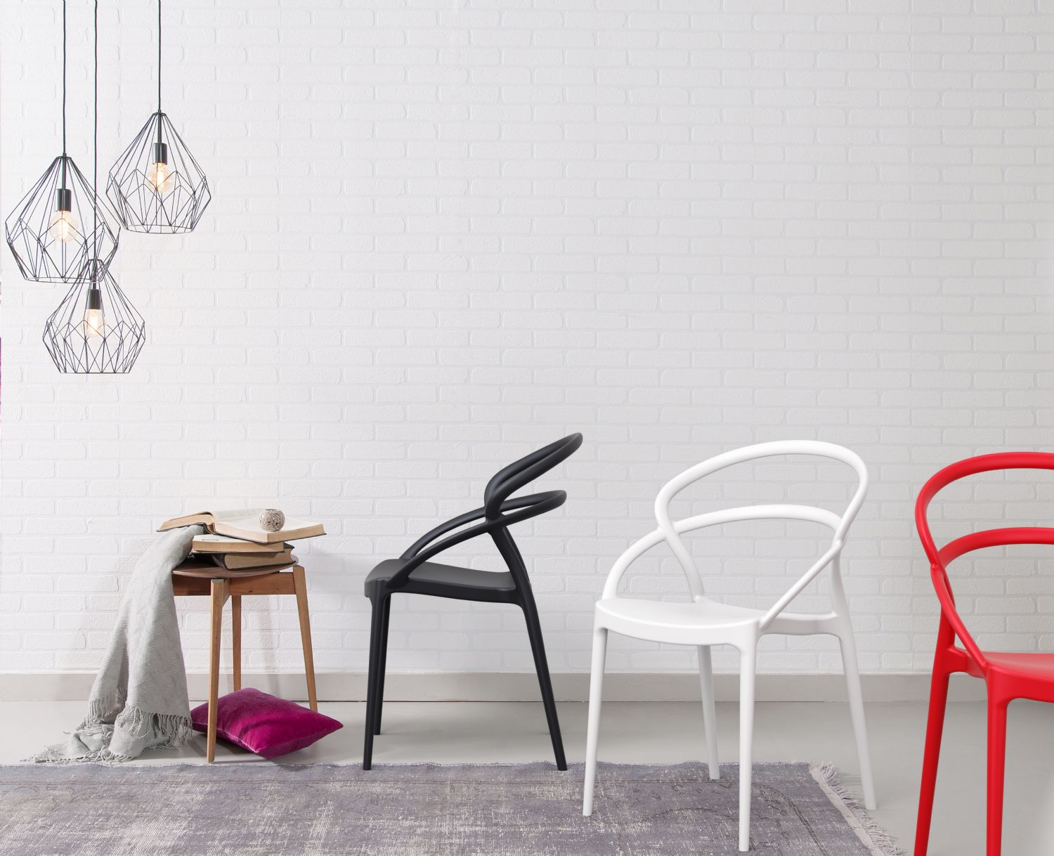 Pia Dining Chair Red ISP086-RED - 1