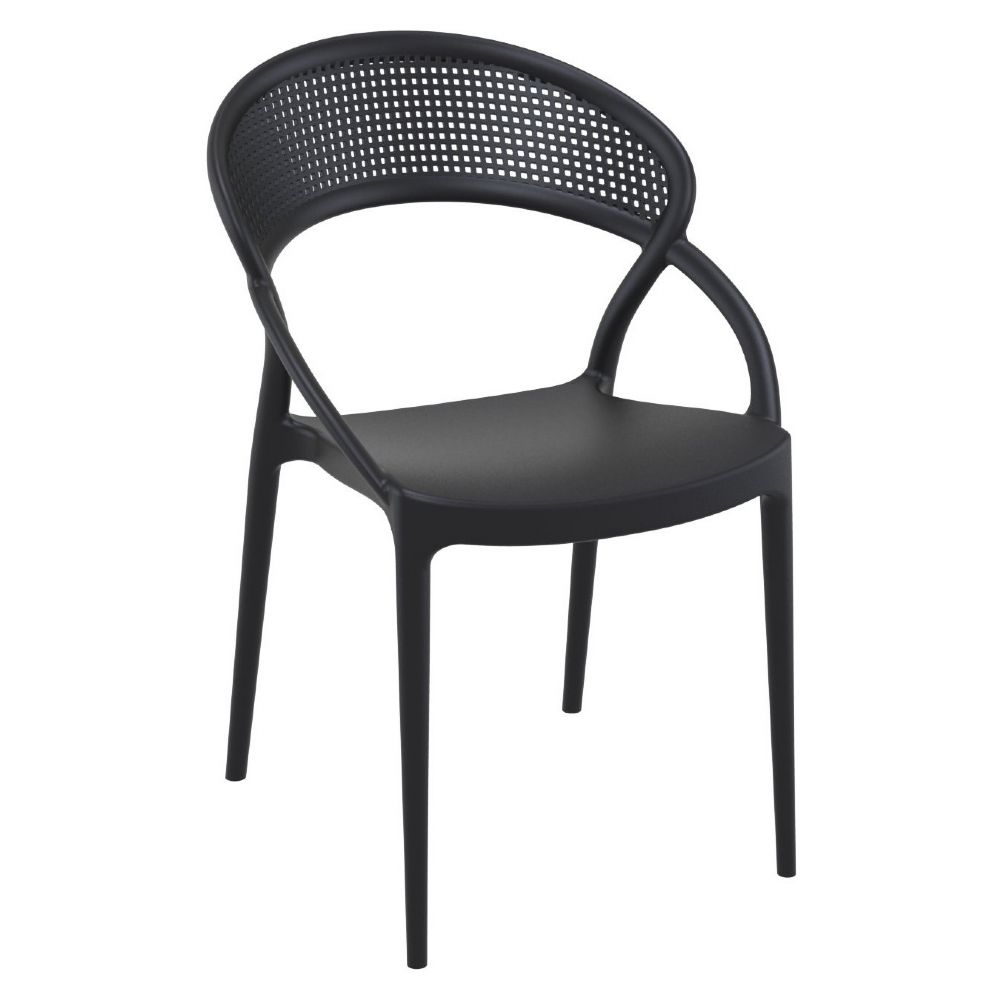 Sunset Dining Chair Black ISP088-BLA