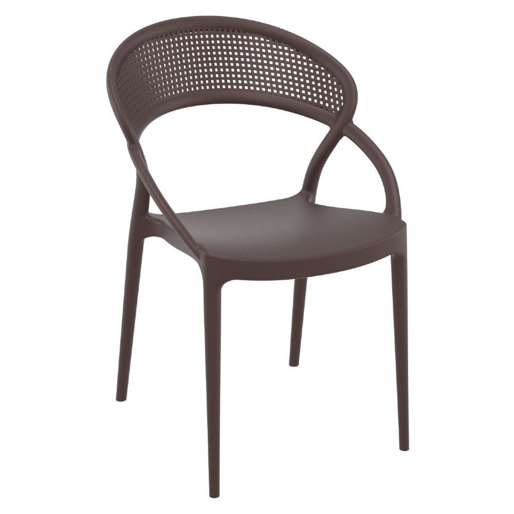Sunset Dining Chair Brown ISP088-BRW