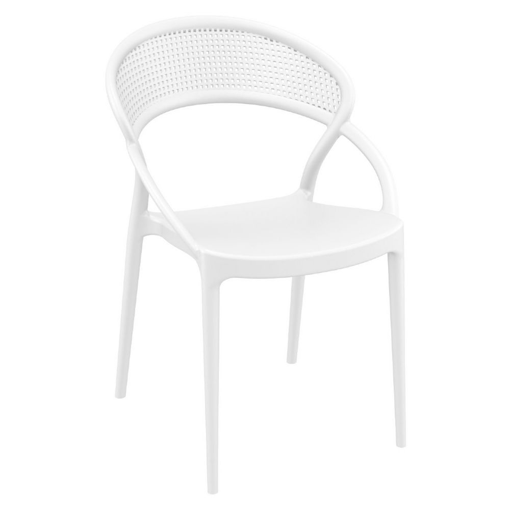Sunset Dining Chair White ISP088-WHI