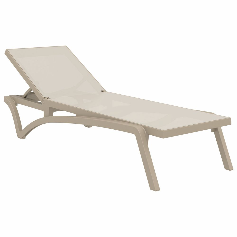 Pacific Sling Chaise Lounge Taupe - Taupe ISP089-DVR-DVR
