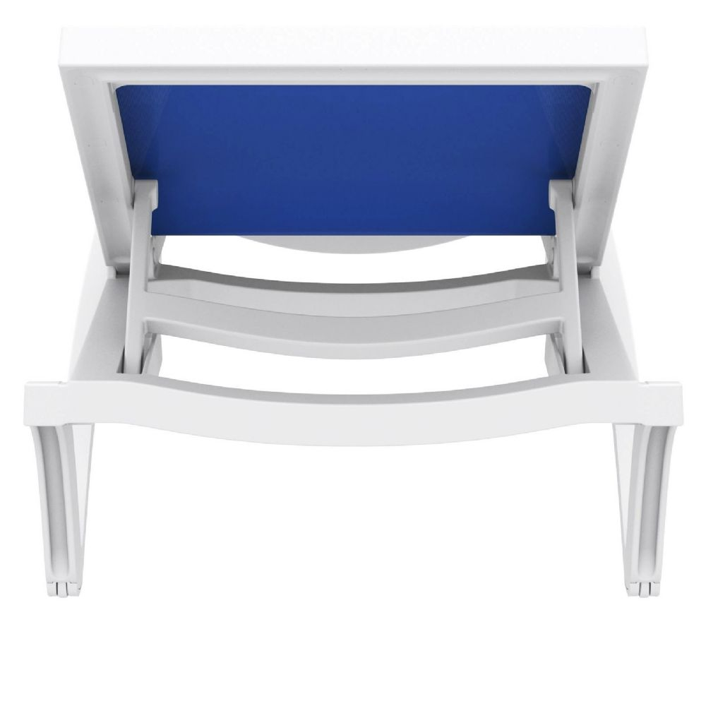 Compamia Pacific Sling Chaise Lounge White Blue Isp089