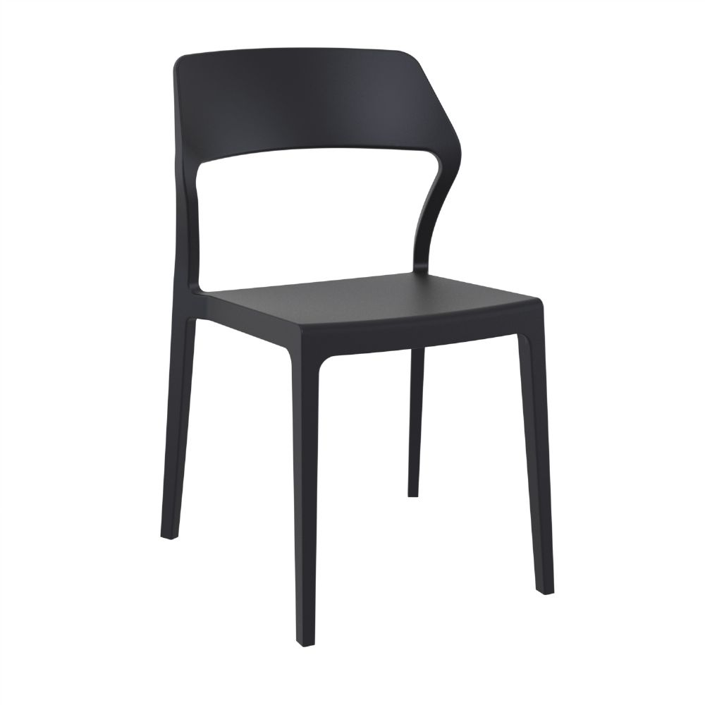 Snow Dining Chair Black ISP092-BLA