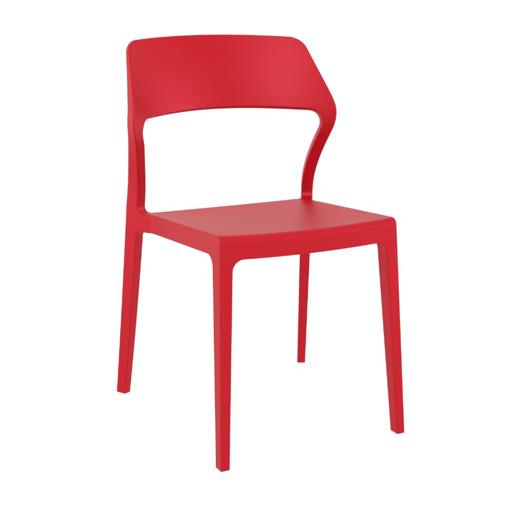 Snow Dining Chair Red ISP092-RED