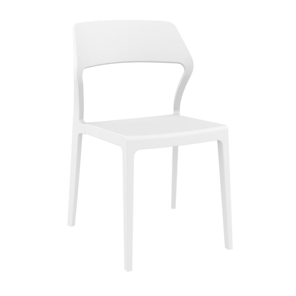 Snow Dining Chair White ISP092-WHI