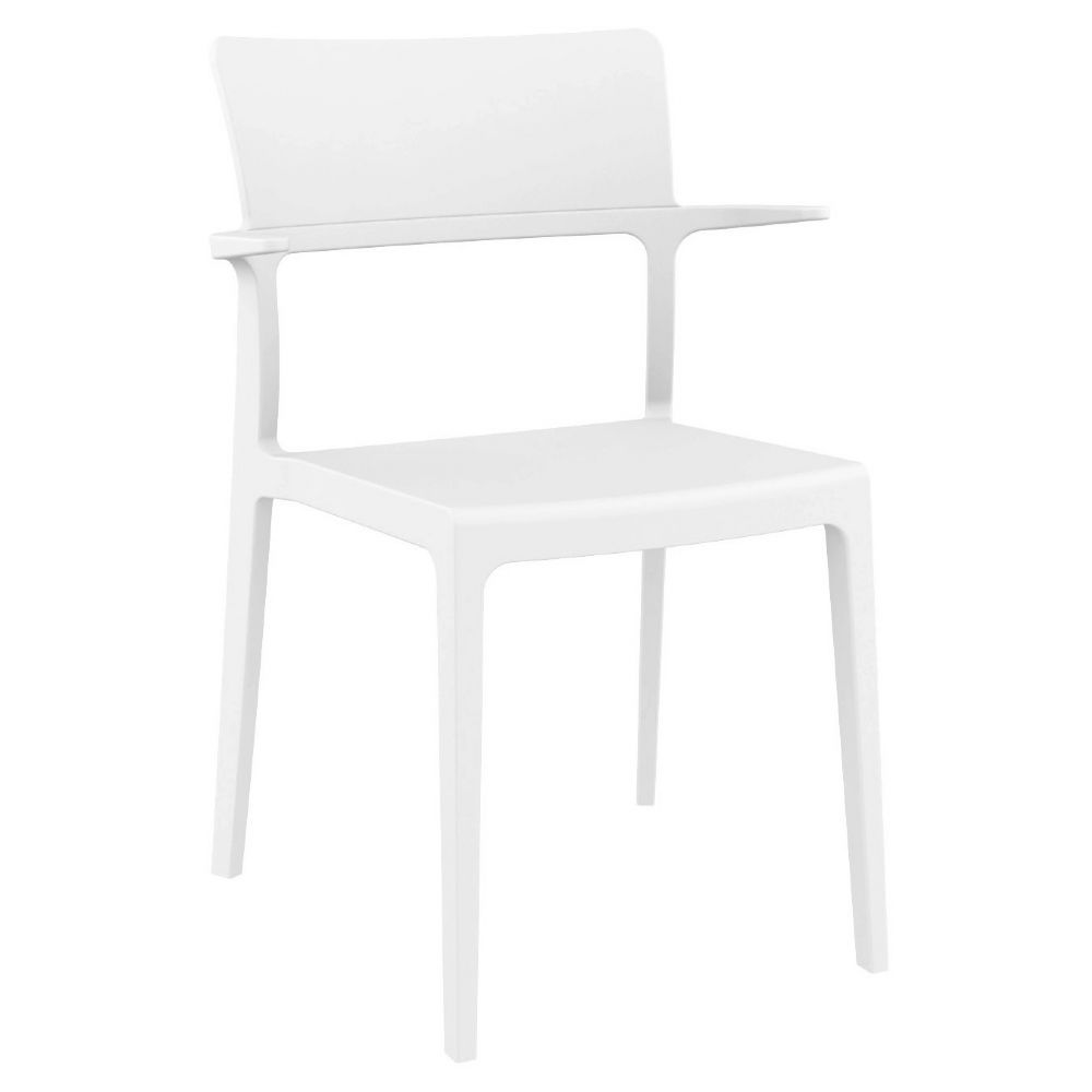 Plus Arm Chair White ISP093-WHI