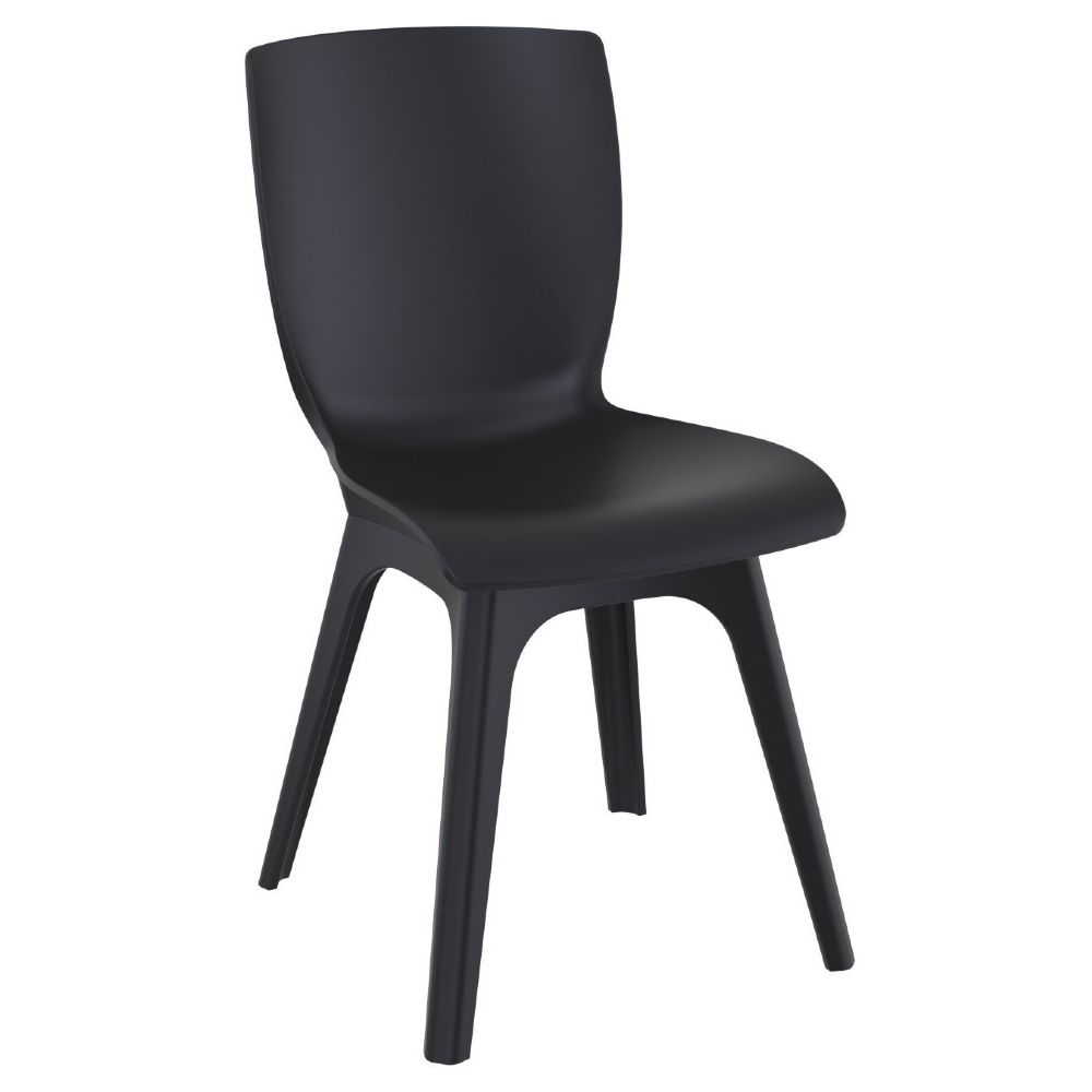 Mio PP Dining Chair Black ISP094-BLA-BLA
