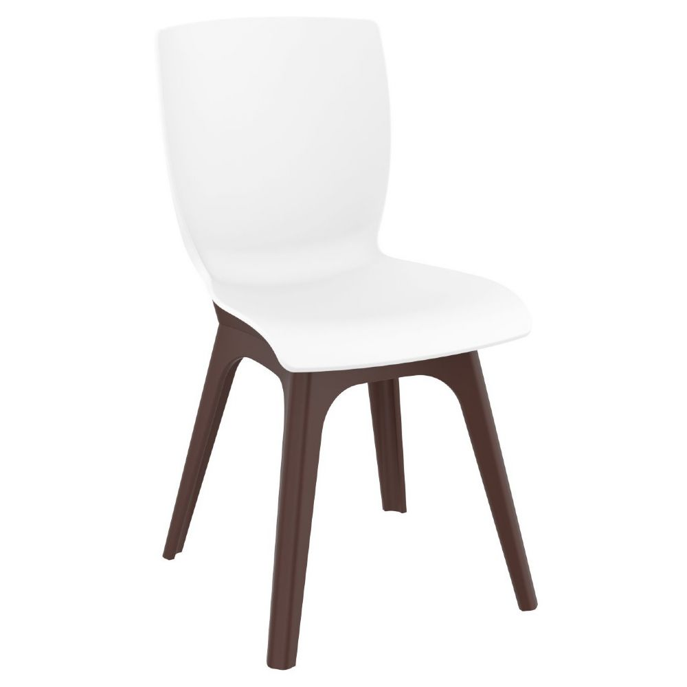 Mio PP Dining Chair Brown White ISP094-BRW-WHI
