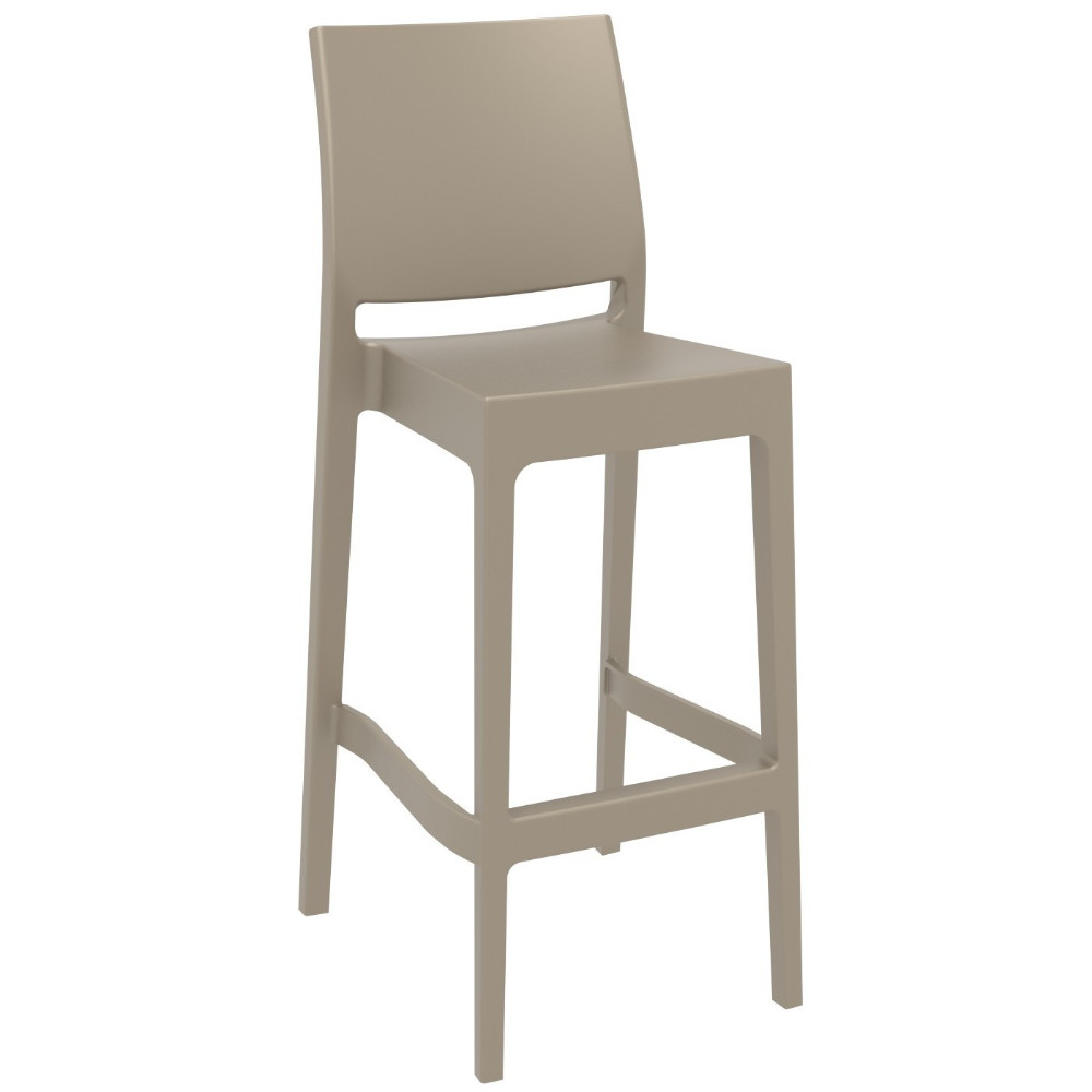 Maya Resin Outdoor Barstool Taupe ISP099-DVR