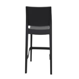 Outstanding Compamia Maya Resin Outdoor Barstool Black Isp099 Bla Evergreenethics Interior Chair Design Evergreenethicsorg