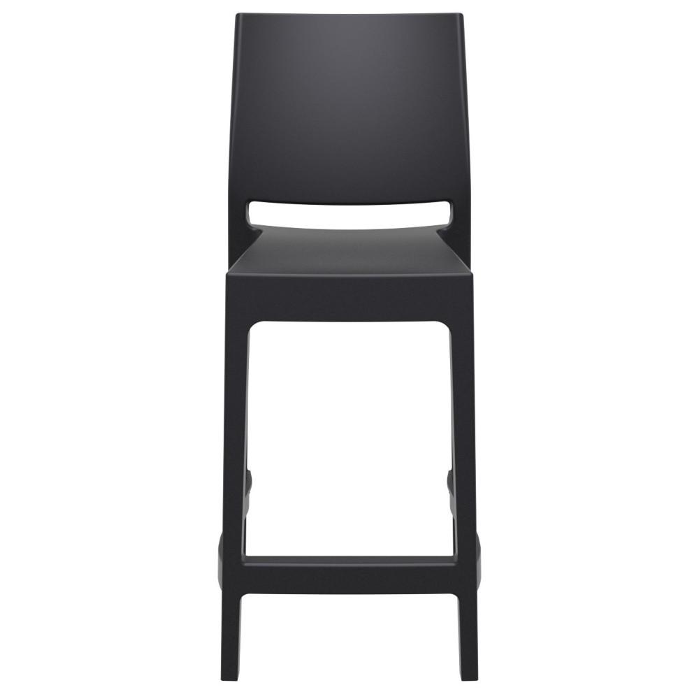 Pleasant Compamia Maya Resin Outdoor Counter Stool Black Isp100 Bla Evergreenethics Interior Chair Design Evergreenethicsorg